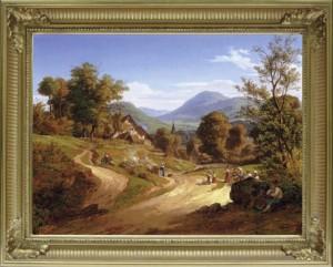Ernst Fries: Blick von Kleingemünd auf Neckargemünd, 1828. Neue Pinakothek in München.