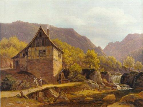 Louis Catoir, Mühle im Morgenbachtal, 1836