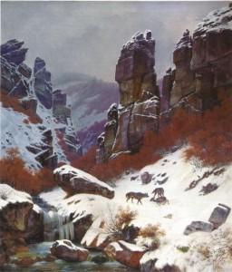Friedrich Simmler: Das Morgenbachtal im Winter, 1838. Privatbesitz.