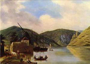 Friedrich Simmler: Am Rheinufer bei Bingen, 1824. Museum Georg Schäfer in Schweinfurt.