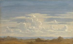 Gustav Friedrich Papperitz, Wolkenstudie.