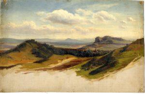 Fernsicht auf den Harz, 1868. Museum Freiberg/Sachsen.